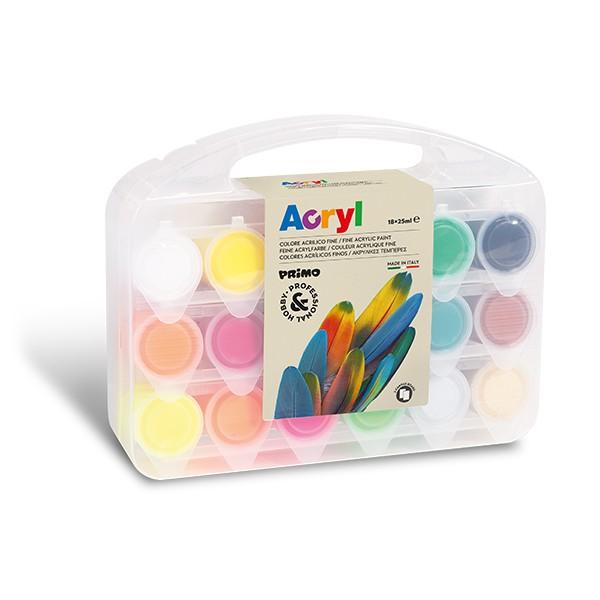 Fine Acrylic Paint 18 colours 25 ml