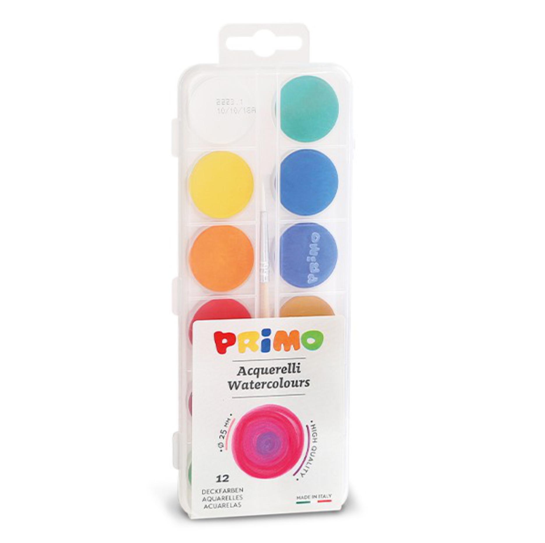 Watercolour tablets, 12 colours