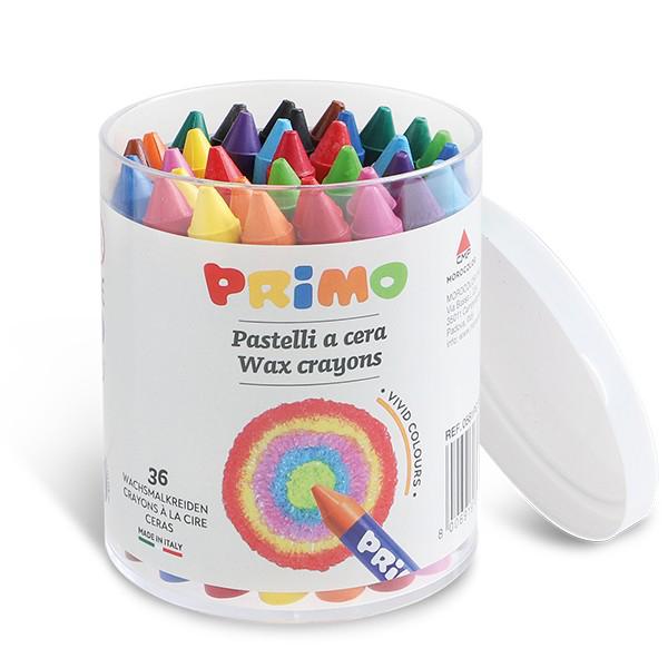 36 wax crayon tub