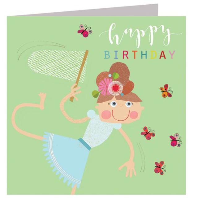 Glittery Butterfly Birthday Card