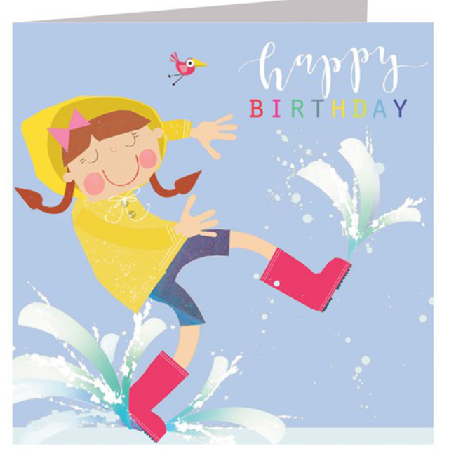 Puddle Jumping Birthday Card