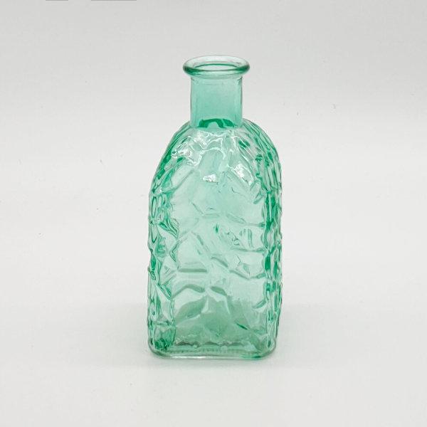 Green Square Base Crackle Diffuser Bottle