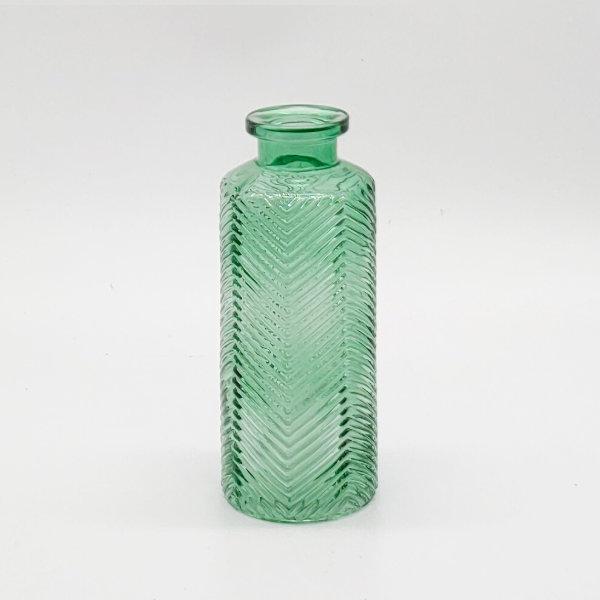 Green Herringbone Pattern Diffuser Bottle