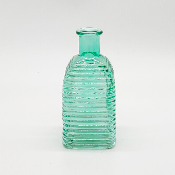 Green Square Base Ribbed Diffuser Bottle