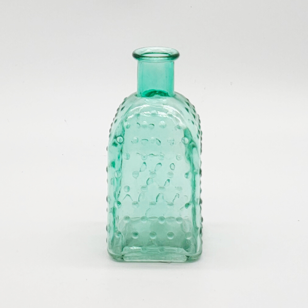 Green Square Base Dimpled Diffuser Bottle