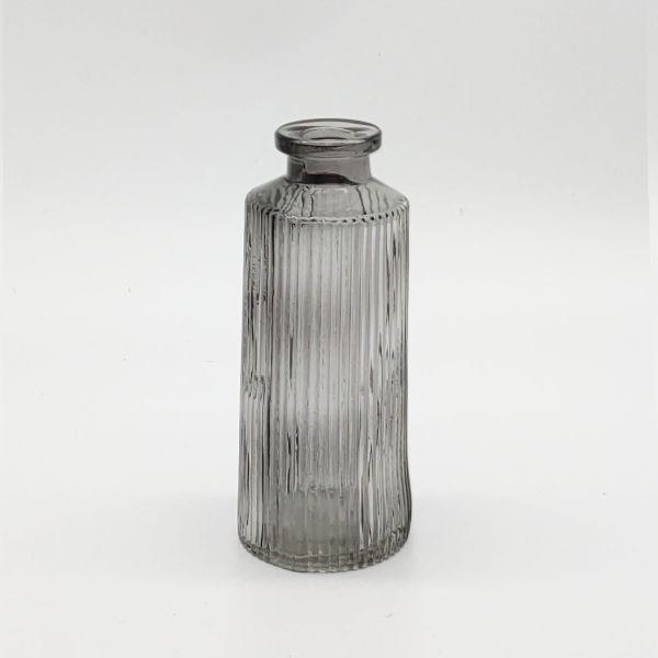 Grey Ribbed Diffuser Bottle