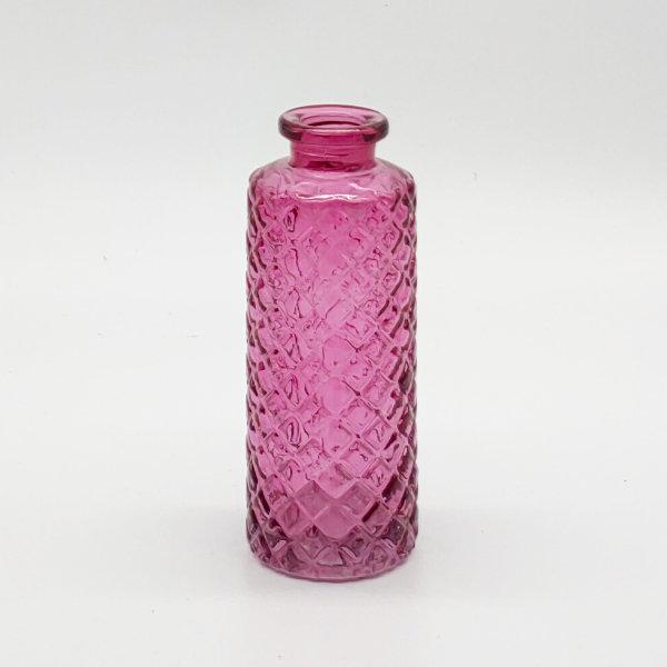 Dark Pink Criss Cross Diffuser Bottle