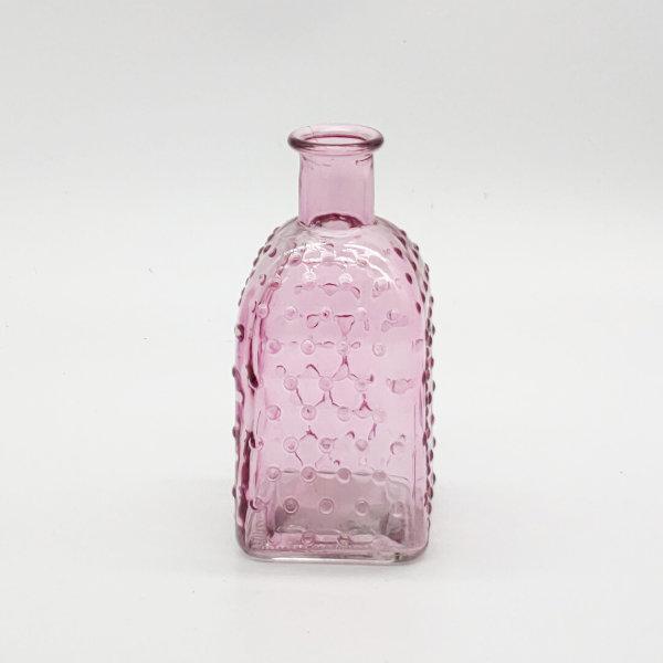 Light Pink Square Base Dimpled Diffuser Bottle