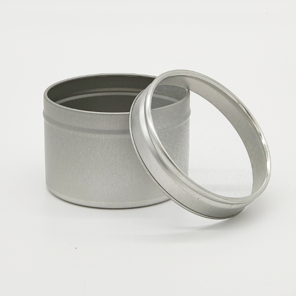 Small Seamless Tin - Clear lid