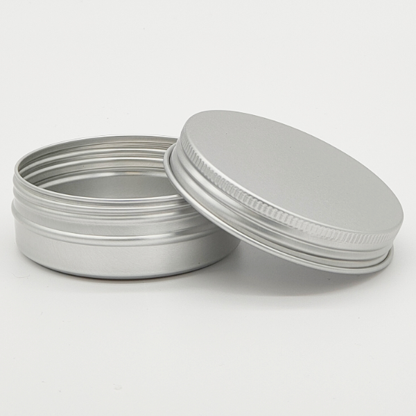 Mini Seamless silver screw lid tins