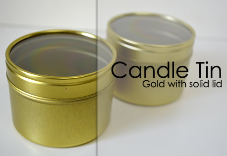 Small Seamless Tin - Gold with Clear lid