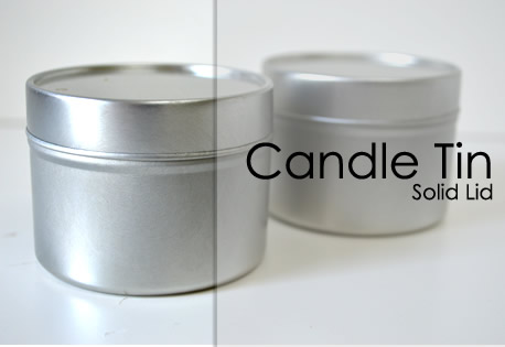 Small Seamless Tin - Solid Lid