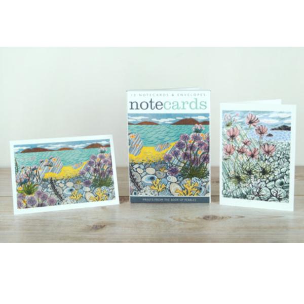Pebble Shore / Sea Pinks Notecards