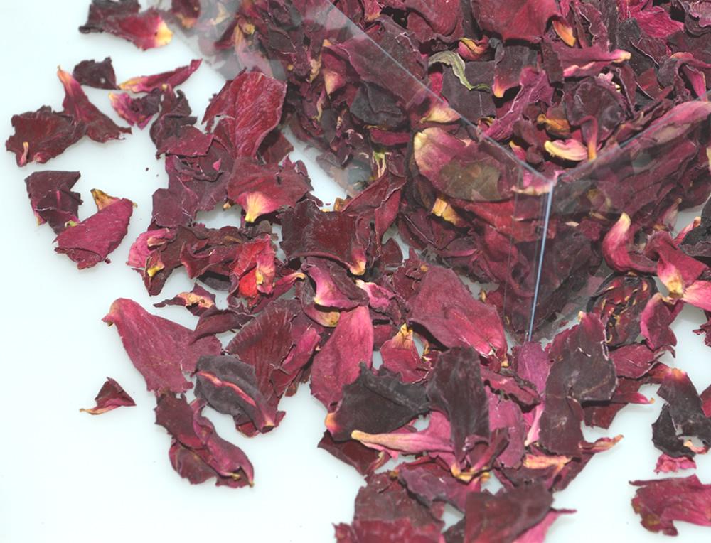 Large Burgandy Rose Petals