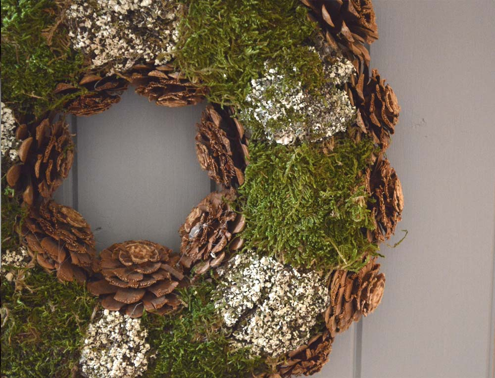 Rose Cut Cone and Moss Wreath